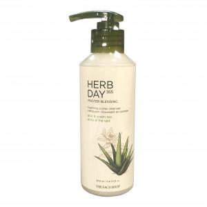 Master Blending Foaming Pump Cleanser Aloe&Green Tea Herb Day 365  The Face Shop