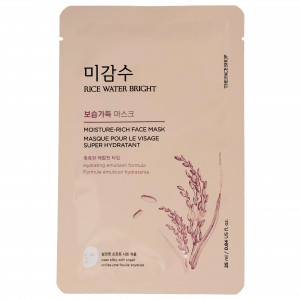 Rice Water Bright Moisture Rich Face Mask The Face Shop