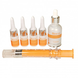 Biocos Luminous Effect Collagen - Vitamin C Powder Ampoule Set Coreana